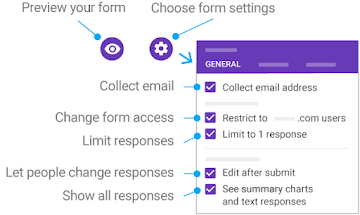 Preview your form and choose form settings