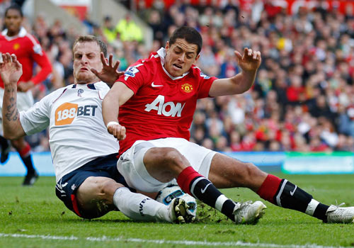 David Wheater and Javier Hernandez, Manchester United - Bolton