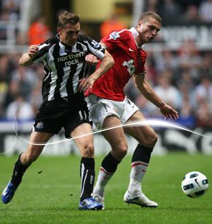 Vidic, Newcastle - Manchester United