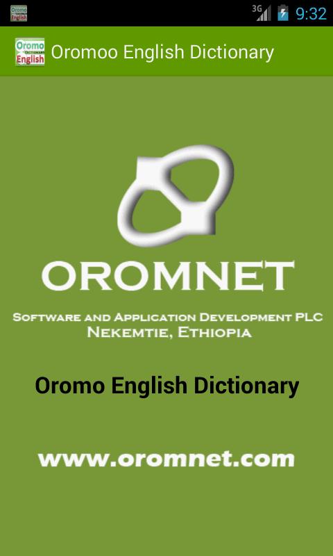 Afaan Oromoo English Dictionary - Galmee Jechoota 4.5 Update