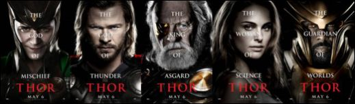 Thor Character Posters