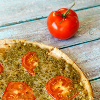 Grilled Pesto Pizza