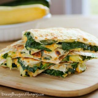 Cheesy Zucchini Spinach Quesadillas