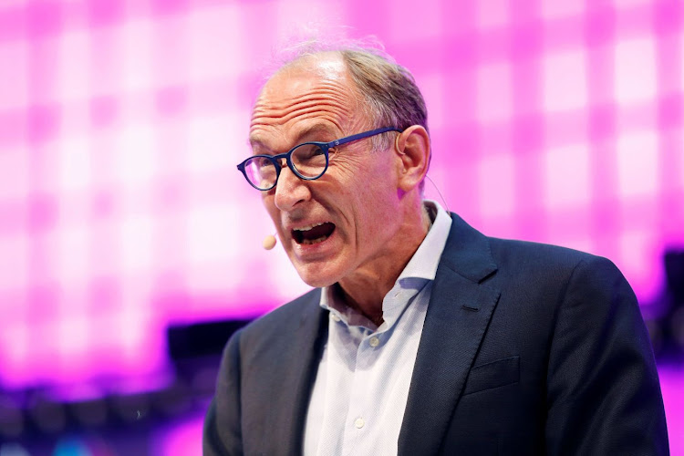 World wide web inventor Sir Tim Berners-Lee speaks during the inauguration of Web Summit in Lisbon, Portugal, on November 5 2018. Picture: REUTERS/PEDRO NUNES
