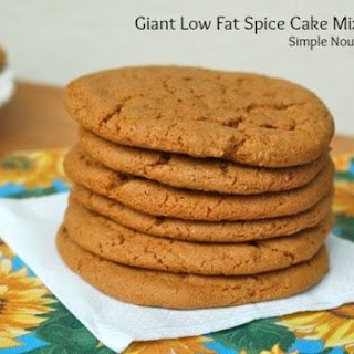 Giant Low Fat Spice Cake Mix Cookies Recipe