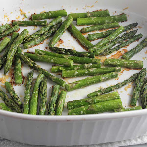 Roasted Asparagus with Parmesan #SundaySupper