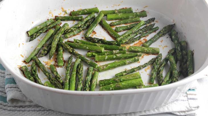Roasted Asparagus with Parmesan #SundaySupper Recipe