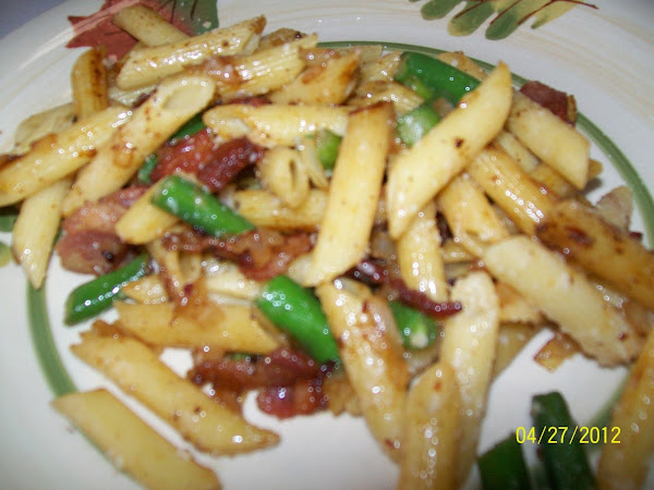 """Pasta With Bacon And Beans """" One Pot Wonder"""" Recipe"""