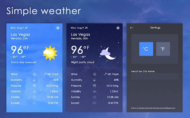 Simple Weather Report