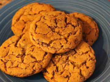 Chocolate Flecked Peanut Butter Cookies