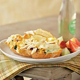 Open-Faced Chicken and Muenster Sandwiches with Apricot-Dijon Spread