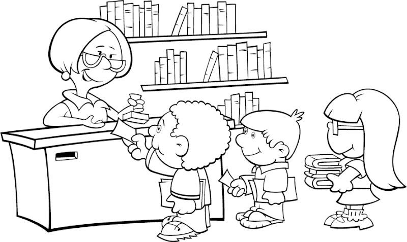 رسومات جاهزه للتلوين للاطفال LIBRARY1.JPG
