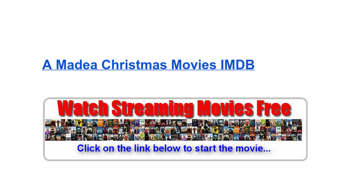 watch a madea christmas hd full movie google docs