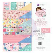 Prima Julie Nutting Paper Pad 12X12 24/Pkg - Traveling Girl UTGÅENDE