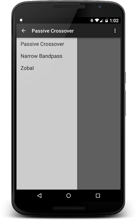 Crossover Calculator - screenshot