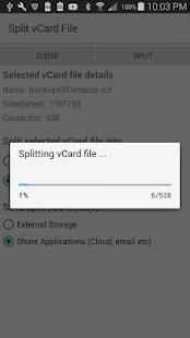 vCard Splitter - náhled