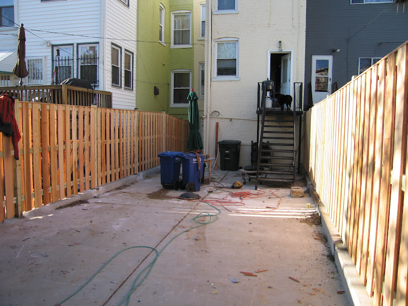 Petworth Row House New Privacy Fence