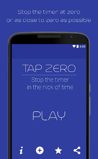ゼロで停止タイマー - ゼロをタップします