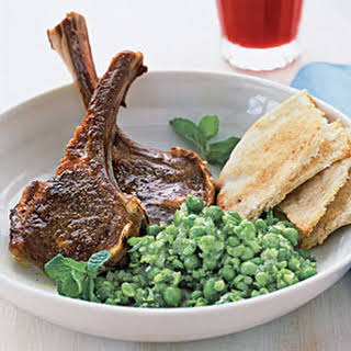 Spiced Lamb Chops and Smashed Peas.
