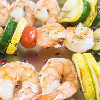 Grilled Shrimp and VeggiesKabobs.