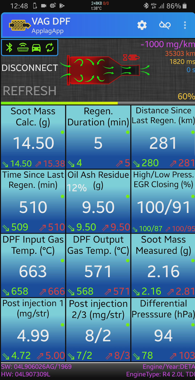 VAG DPF Screenshot 0