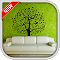 Tree wall murals icon