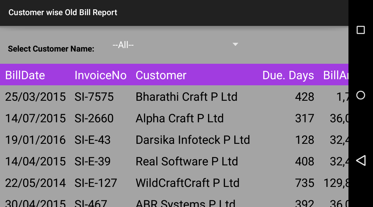 Invoice Manager- screenshot