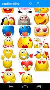 Emoticons Cute Love screenshot 4