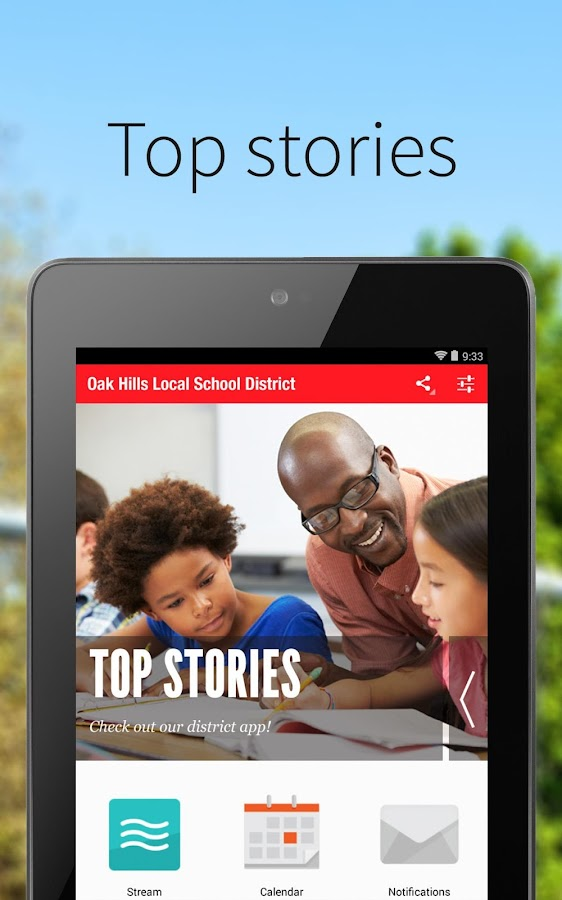 Oak Hills Local Schools- screenshot