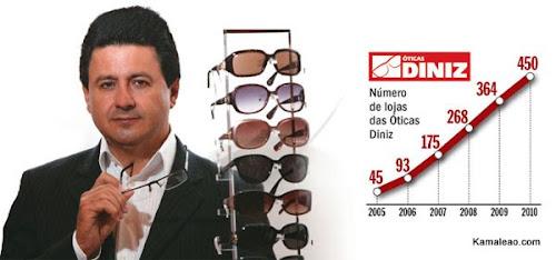 4784a1fd58af6 Em 1992, o paraibano Arione Diniz, 49 anos, inaugurou em São Luís, no  Maranhão, a primeira loja das Óticas Diniz. Sua rede é hoje a maior do  país, ...