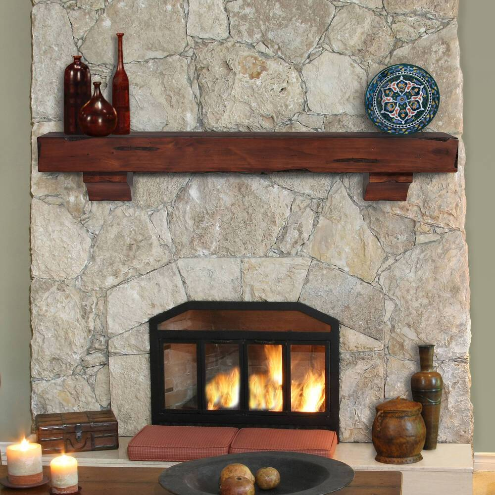 Complete Stone Fireplace Makeover