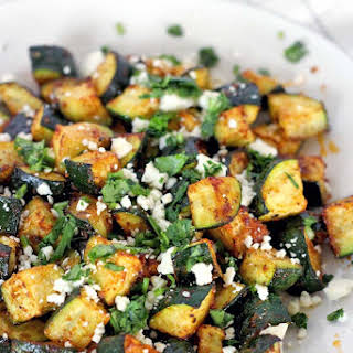 Roasted Mexican Zucchini.