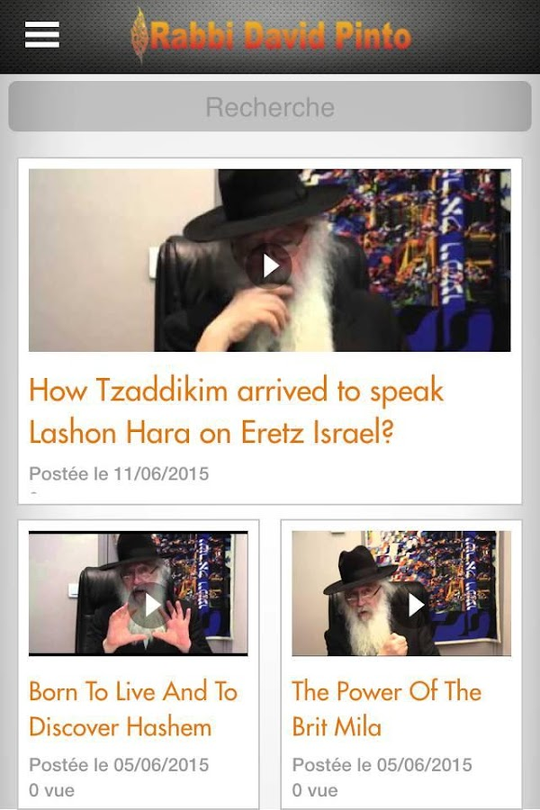 Rabbi David Pinto- screenshot