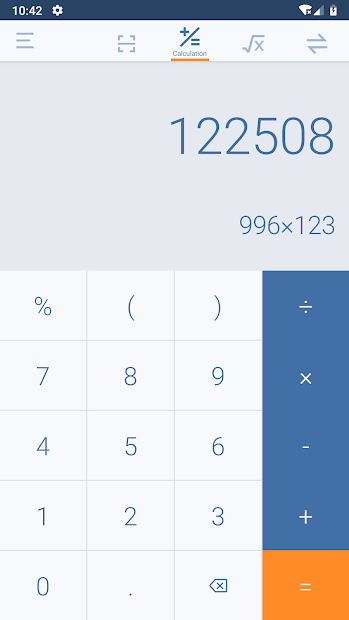 Calculator Pro – Take Photo to Get Math Answers Android App Screenshot