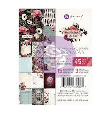 Prima Marketing Journaling Cards Pad 3X4 45/Pkg - Midnight Garden UTGÅENDE