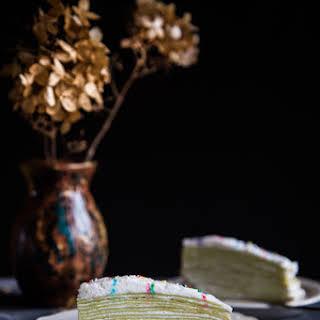 Pandan Mille Crepe Cake.
