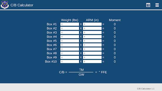 App USAF EOS Center of Balance Calculator APK for Windows Phone