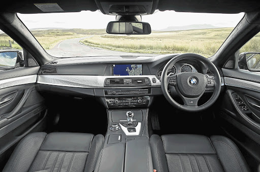 COCKPIT: The interior of the explosive M5