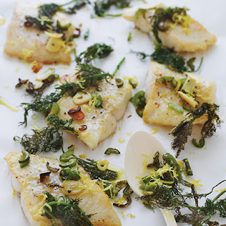 Lemon Fish with Crispy Dill by Donna Hay