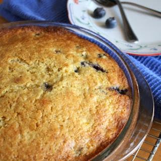 Blackberry Corn Cardamom Cake with Olive Oil