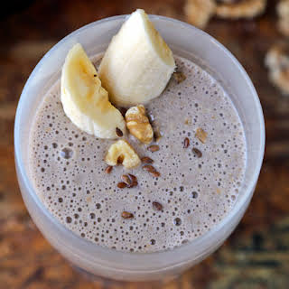 Flaxseed Banana Smoothie (with Coffee).