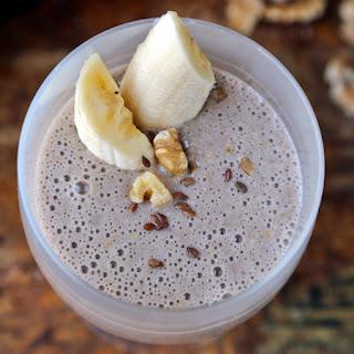 Flaxseed Banana Smoothie (with Coffee).