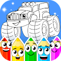 Coloring book : Transport icon