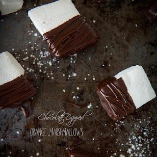 Chocolate Dipped Orange Marshmallows