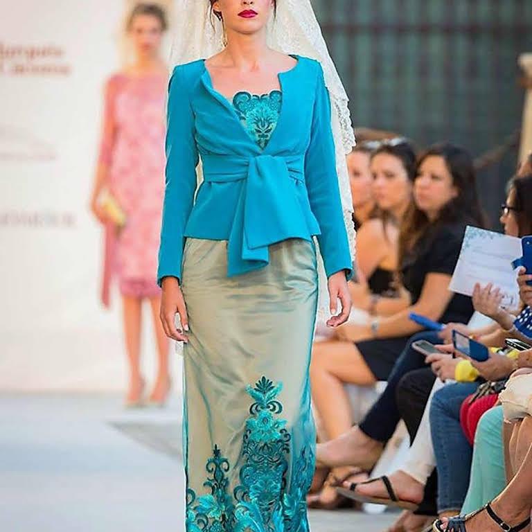 inma castrejón en alhó tomares , novias fiesta flamenca - vestidos