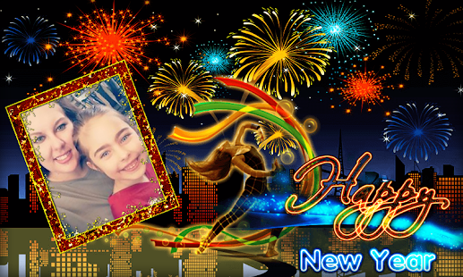 Happy New Year 2018 image - Shayari Photo Frame - náhled