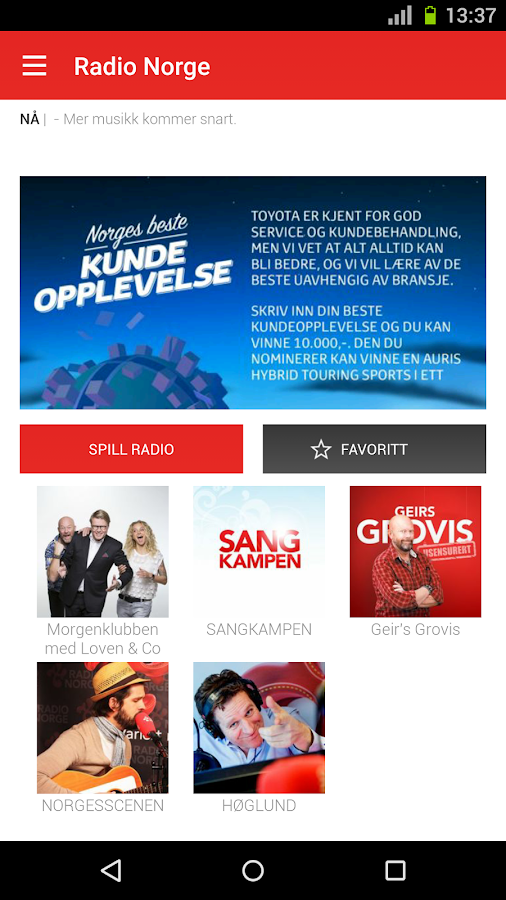 Radio Norge- screenshot