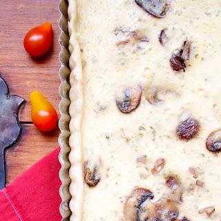 Goat Cheese Tart with Basil, Mushrooms, and Shallots