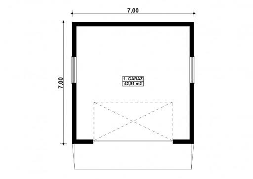 G126 - Rzut garażu