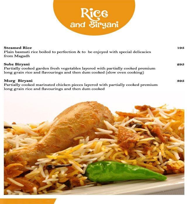 Magadh & Awadh menu 10